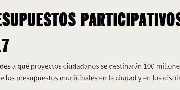 VOTACIÓN PRESUPUESTOS PARTICIPATIVOS